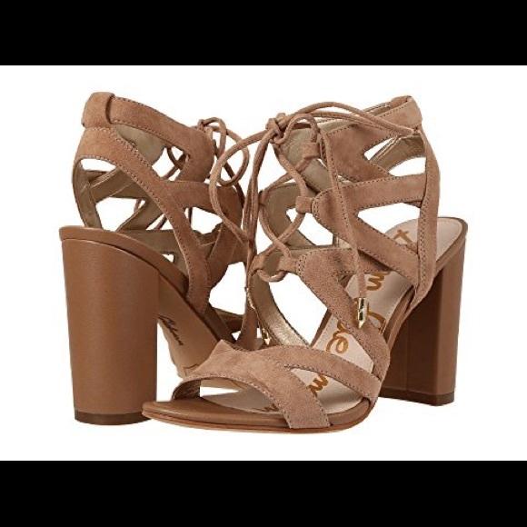 2f2860f5af30 Sam Edelman Shoes - Sam Edelman Nude Yardley Lace-up Sandal